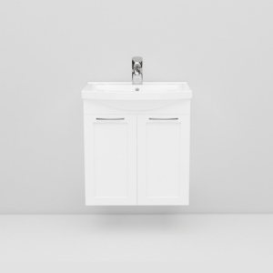 Tvättställsskåp Noro Fix 550 Vit Matt Ramlucka